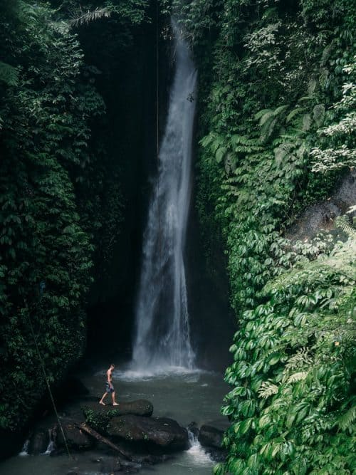 leke leke waterfall bali, leke leke waterfall