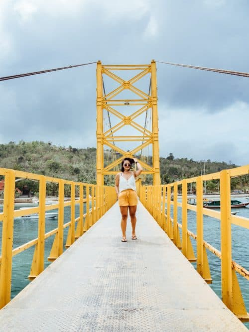 yellow bridge nusa lembongan, things to do in nusa lembongan