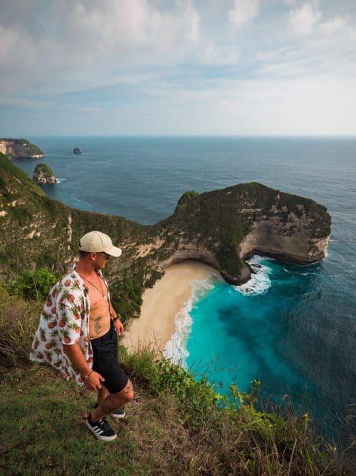 kelingking beach, kelinking beach nusa penida, kelingking secret point beach, trex beach