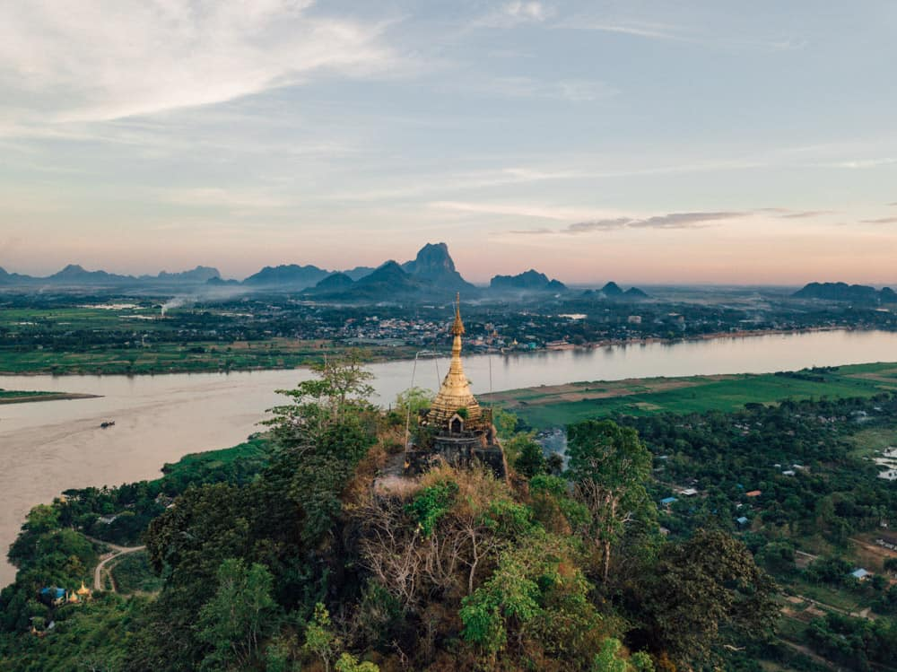 hpan pu mountain, hpan pu pagoda, hpa-an things to do, mt hpan pu, mount hpan pu
