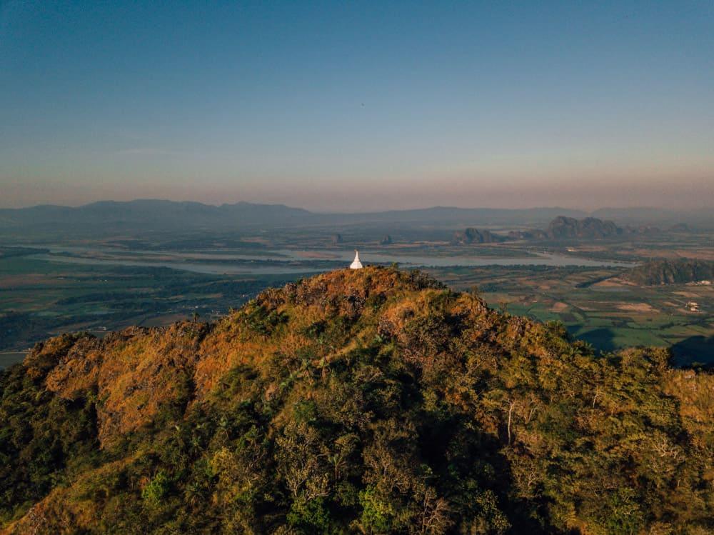 mount zwegabin, zwekabin mountain, mount zwegabin monastery, mount zwekabin, things to do in hpa an