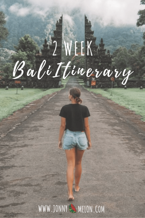 2 week bali itinerary