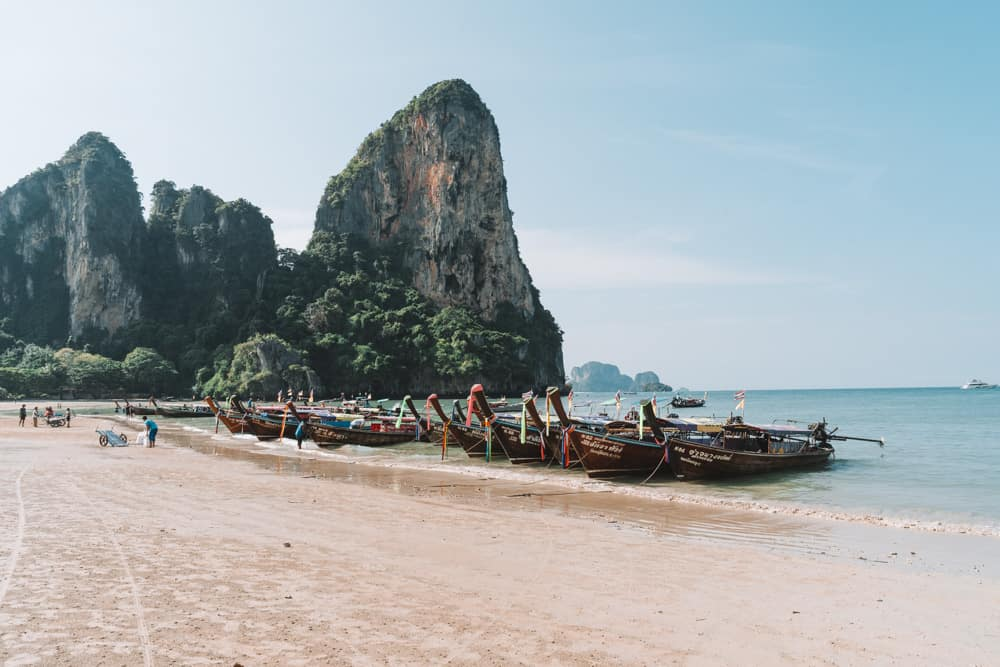 best beaches in krabi, tonsai beach, krabi beach, things to do in krabi, railay beach krabi, railay beach west, west railay beach