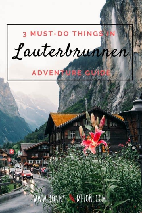 switzerland itinerary, lauterbrunnen, things to do in lauterbrunnen