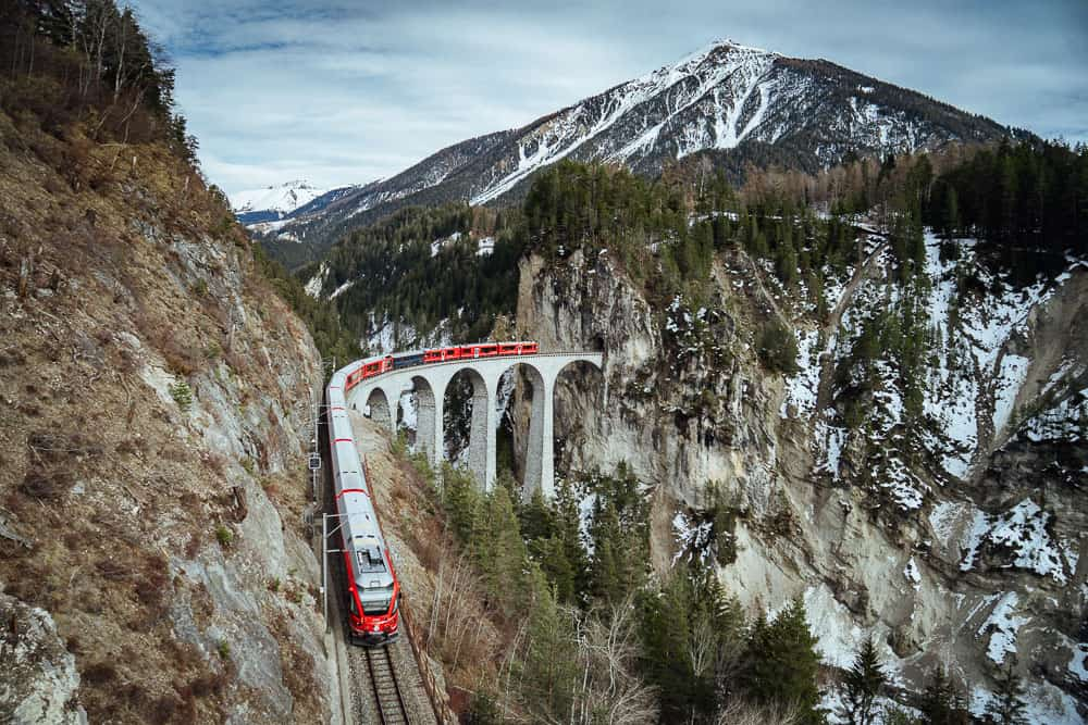 glacier express, switzerland itinerary, glacier express switzerland, landwasser viaduct