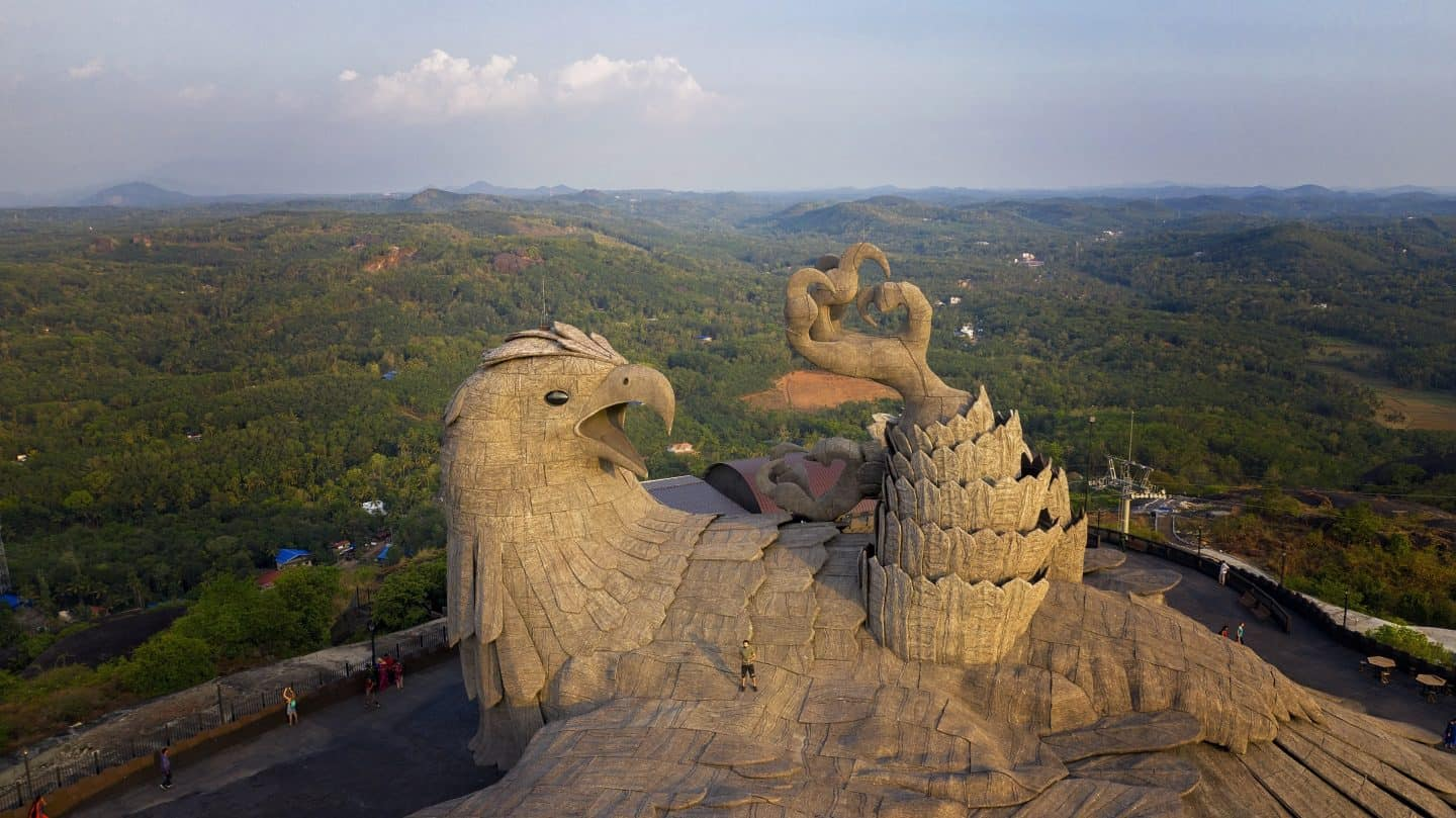WORLD'S LARGEST BIRD STATUE AT JADAYU PARA EARTH'S CENTRE – INDIA