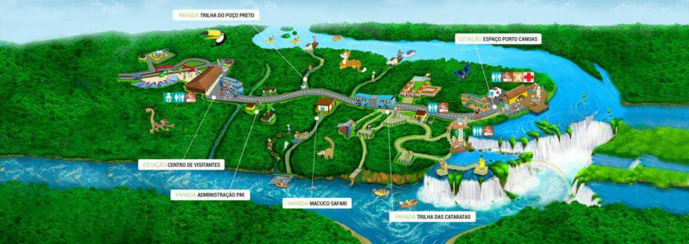 Iguazu Falls Brazil map e1561369360924