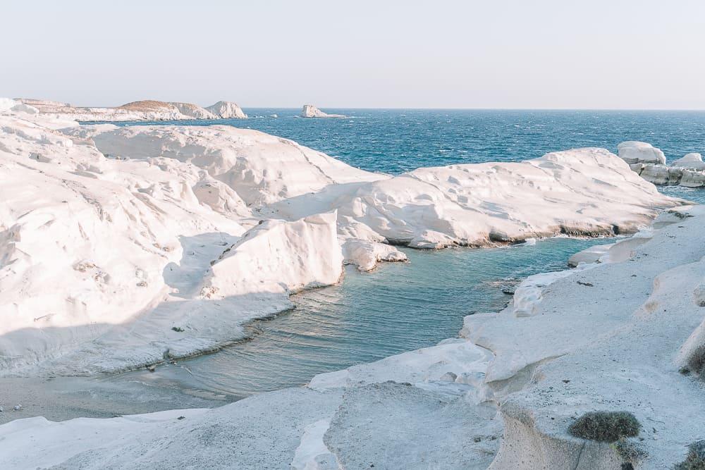 Sarakiniko's beach