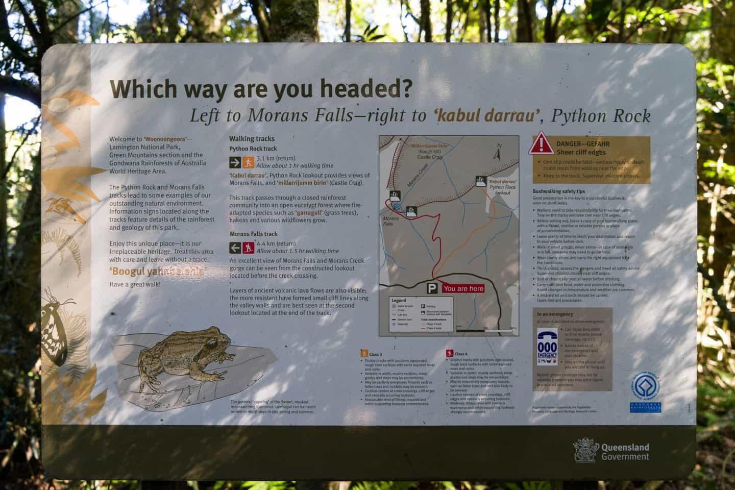 morans falls, moran falls, morans falls lamington national park, lamington national park walks, lamington national park, lamington national park hikes, oreillys rainforest retreat
