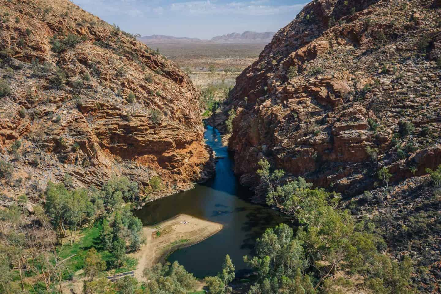 things to do in alice springs, what to do in alice springs, alice springs attractions, ellery creek big hole