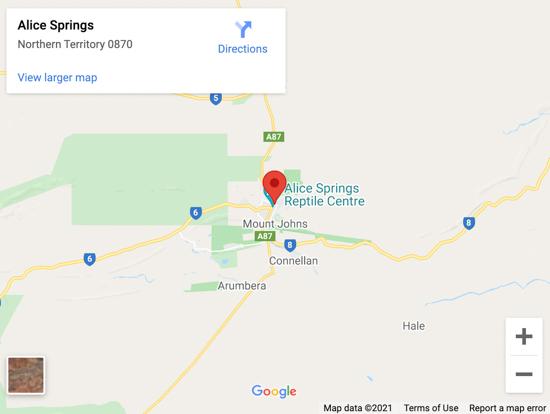 alice springs map