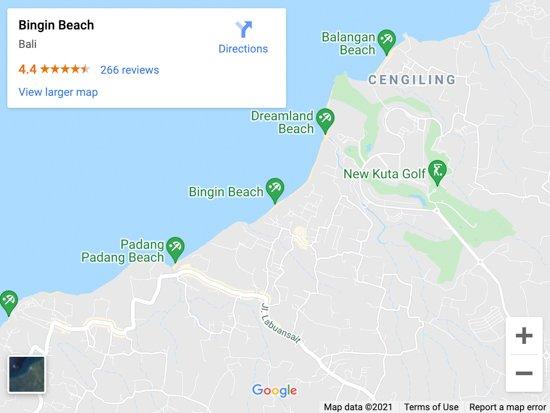 bingin beach map