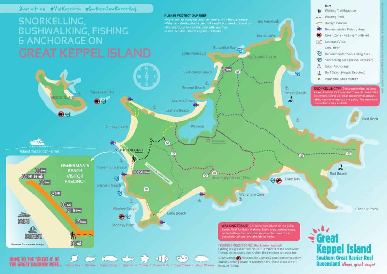 keppel island tourist map