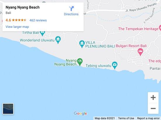 nyang nyang beach map