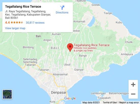 tegalalang map