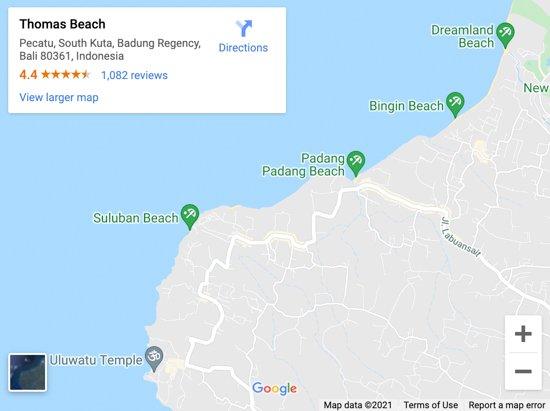 thomas beach map