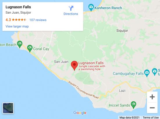 LUGNASON FALLS MAP