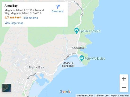 alma bay map