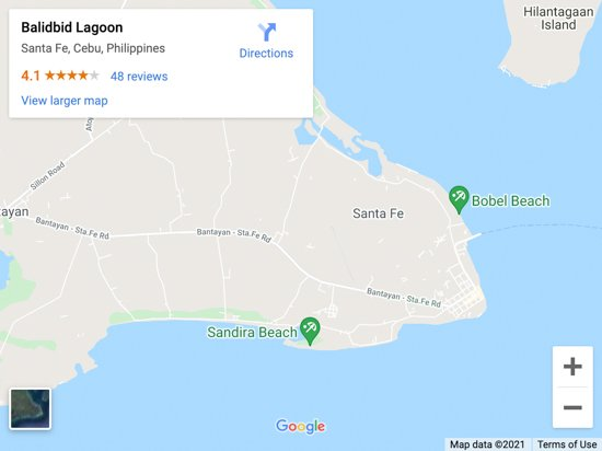 balibid lagoon map
