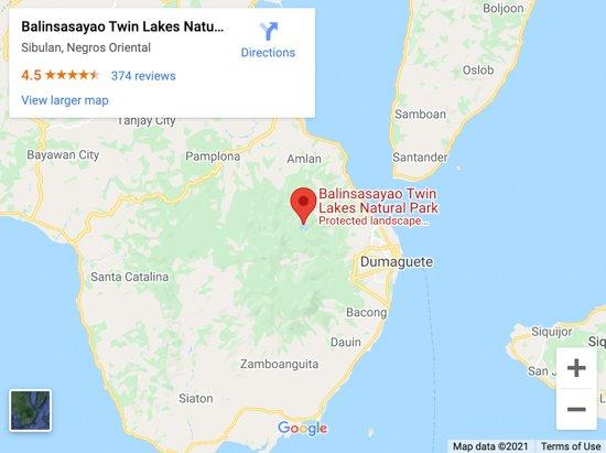 balinsasayao twin lakes map