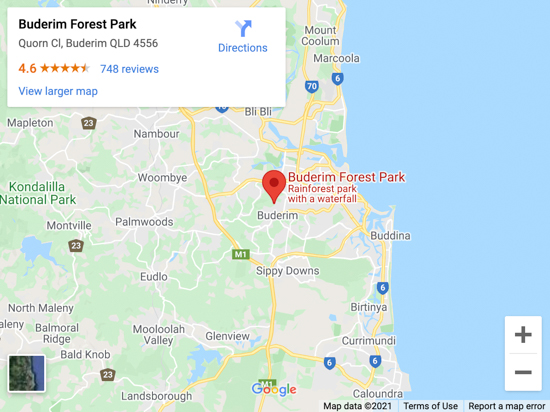 buderim fores park map