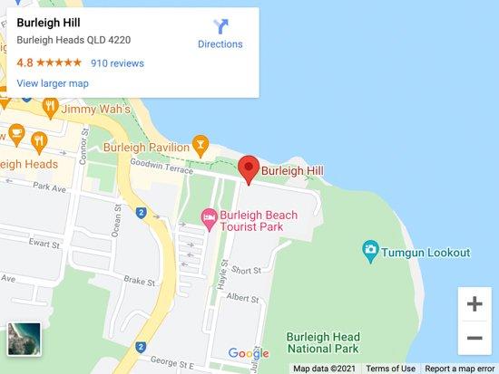 burleigh hill map