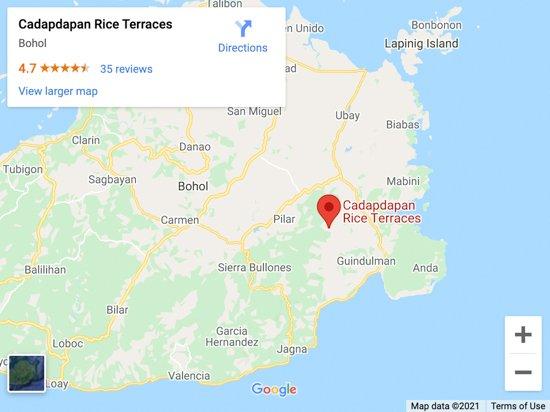 cadapdapan rice terraces map