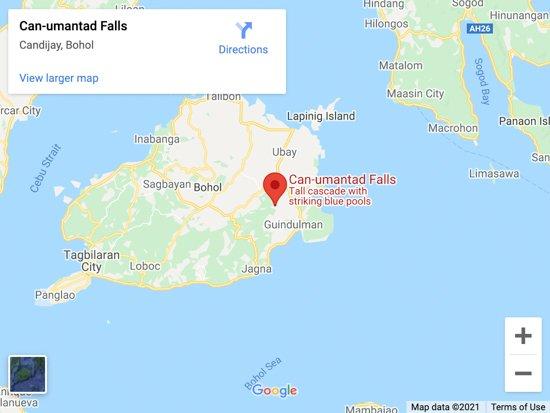 canumantad falls map