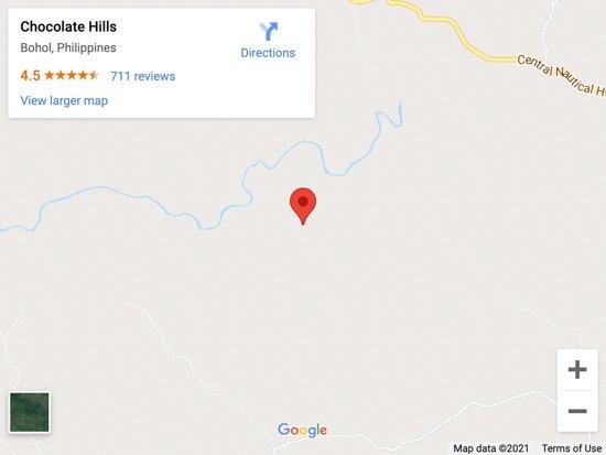 chocolate hills bohol map