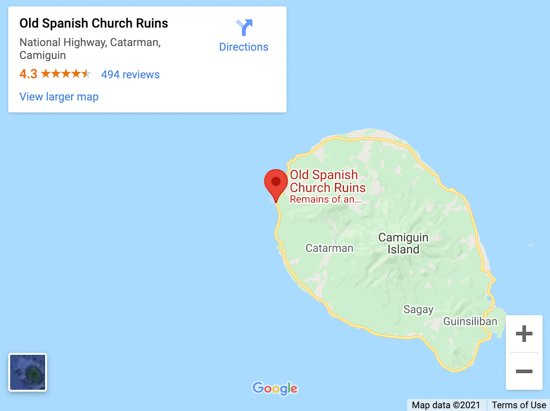 chruch ruins map