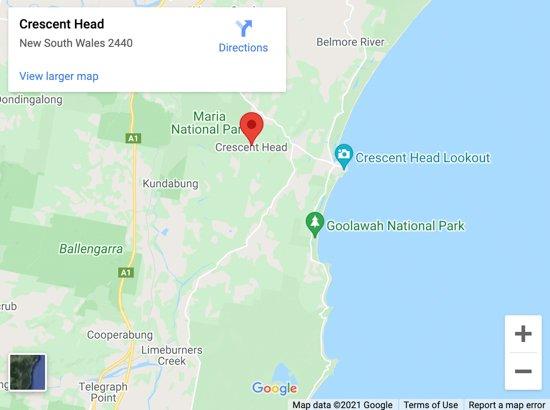 crescent head map