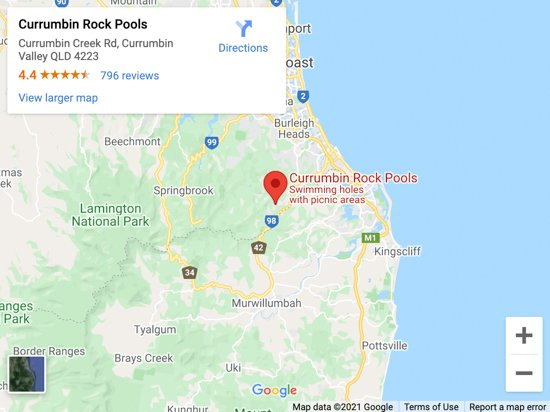 currumbin rockpools map