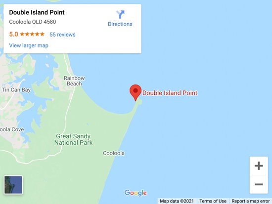 double island point map