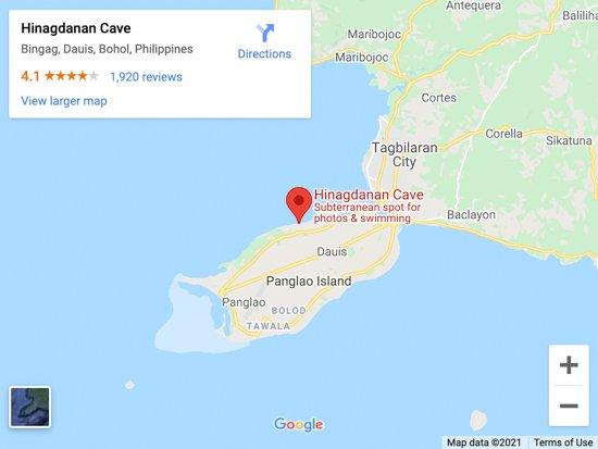 hinagdanan cave map