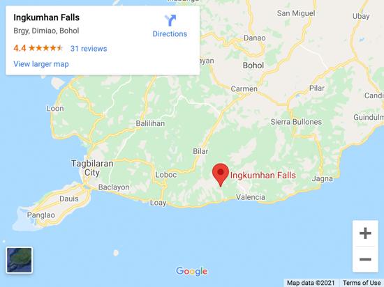 ingkuman falls map