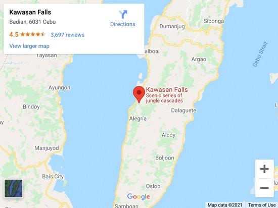 kawasan falls map