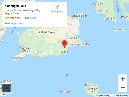 kinahugan map