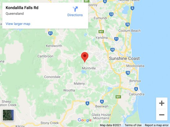 kondalilla falls map