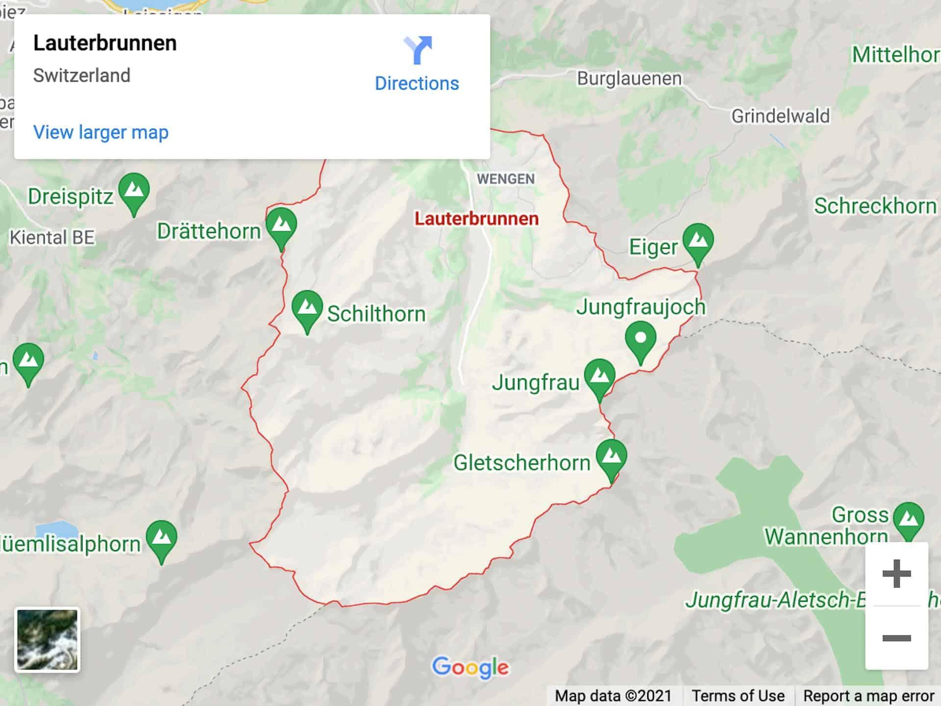 lauterbrunnen map