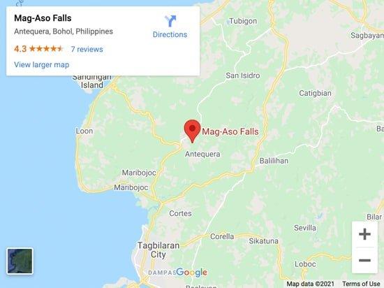 mag aso falls map