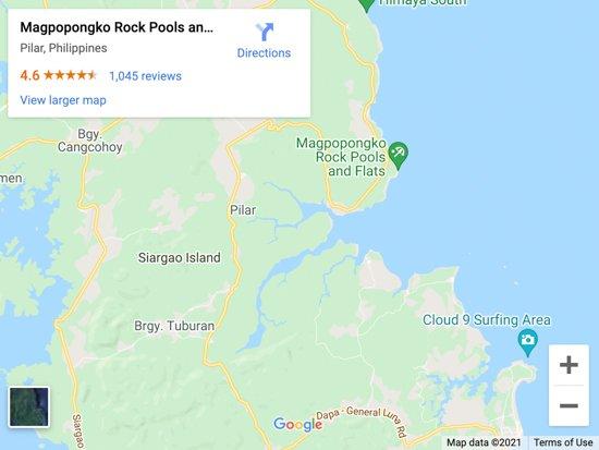 magpupungko rock pools map