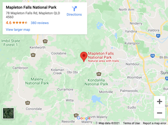 mapleton falls map
