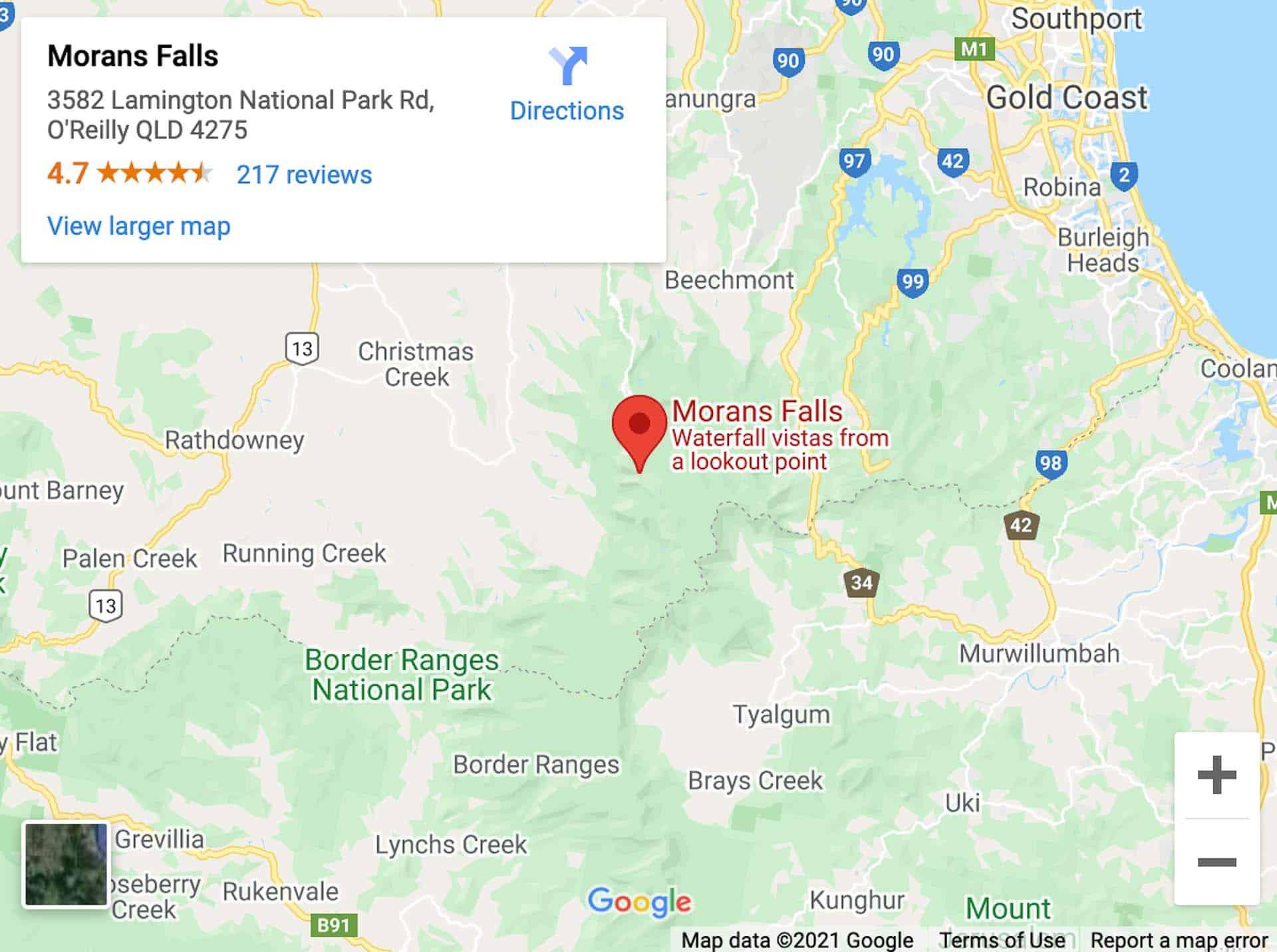 morans falls map