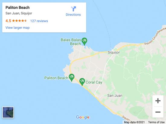 paliton beach map