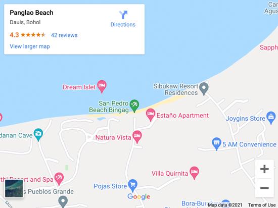 pangalo beach map