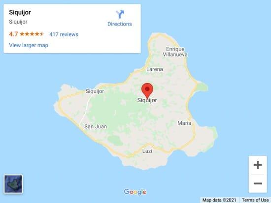 siquijor map