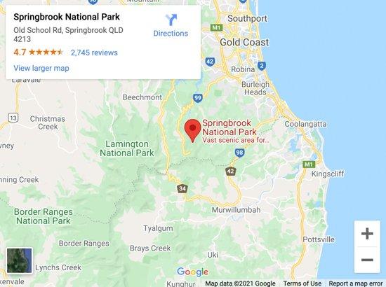 springbrook national park map