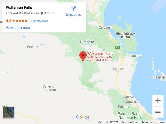 wallaman falls map