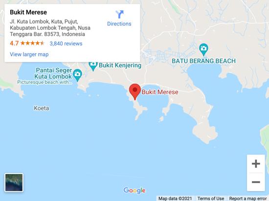 bukit merese map