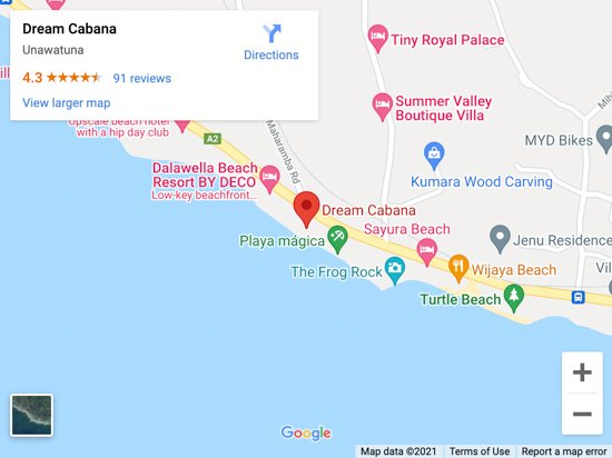 dalawella beach map